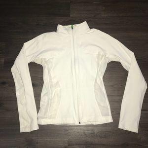 White Lululemon jacket with mesh detail